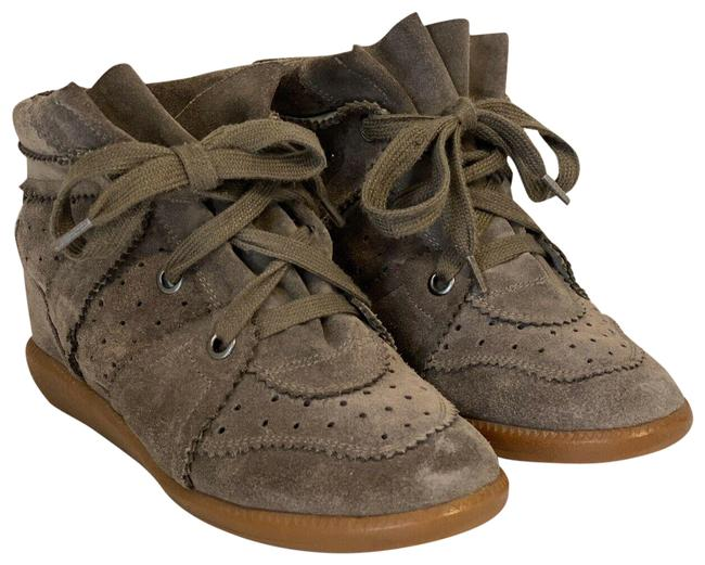 Item - Brown Bobby Suede Leather Wedge Sneakers Size EU 39 (Approx. US 9) Regular (M, B)