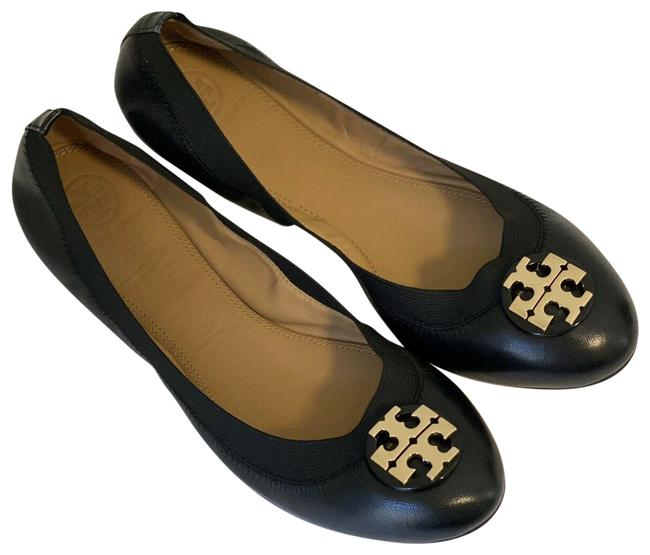 Item - Black Clare Leather Elastic Ballet Flats Size US 8.5 Regular (M, B)