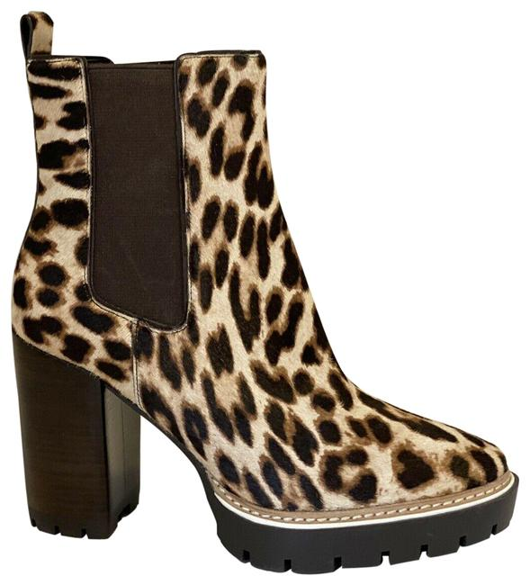Item - Leopard Print Miller 100mm Hair Calf Lug Sole Boots/Booties Size US 9 Regular (M, B)