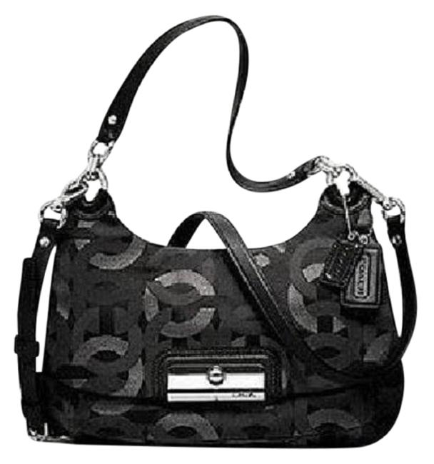 Item - Crossbody Kristin Lurex Convertible Hippie Black-gunmetal-silver Metallic Jacquard-leather Hobo Bag