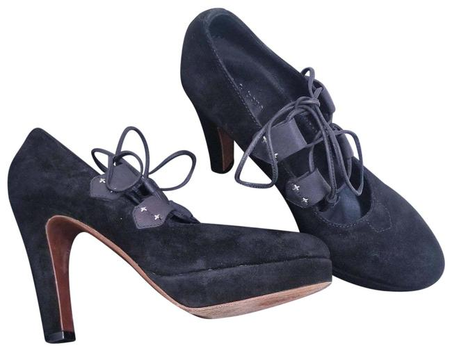 Item - Black Bailey Heels Suede Lace Up Pumps Size EU 38 (Approx. US 8) Regular (M, B)