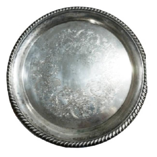 """Item - Silver Wm Rogers 14"""" Plate Serving Tray"""