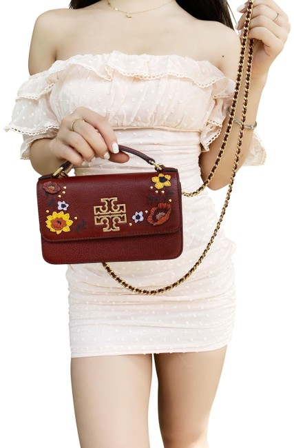 Item - Top Handle Britten Embellished Mini Red Leather Cross Body Bag