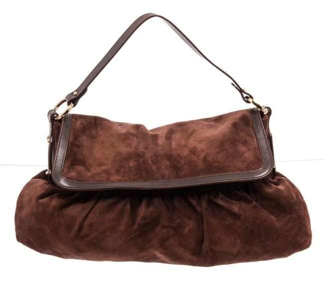 Item - Large Suede Chef Brown Leather Hobo Bag