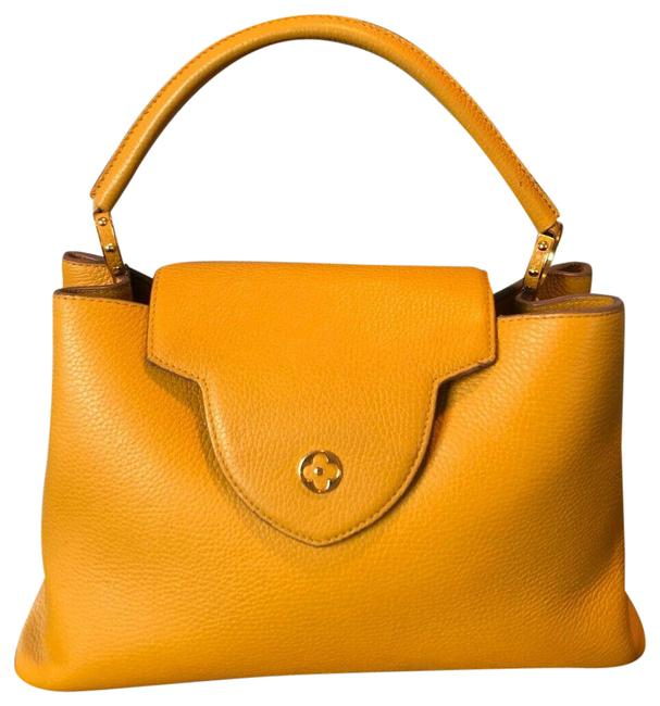 Item - Shopping Capucines Purse Yellow Leather Shoulder Bag