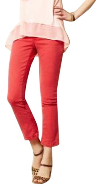 Item - Red Medium Wash Pilcro and The Letterpress Stet In Reddish Coral Straight Leg Jeans Size 27 (4, S)