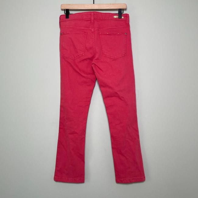 Anthropologie Red Medium Wash Pilcro and The Letterpress Stet In Reddish Coral Straight Leg Jeans Size 27 (4, S) Anthropologie Red Medium Wash Pilcro and The Letterpress Stet In Reddish Coral Straight Leg Jeans Size 27 (4, S) Image 5