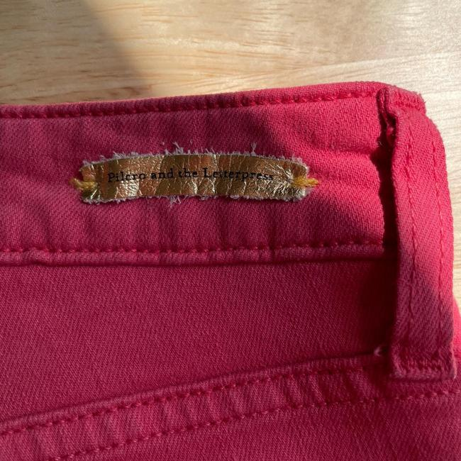 Anthropologie Red Medium Wash Pilcro and The Letterpress Stet In Reddish Coral Straight Leg Jeans Size 27 (4, S) Anthropologie Red Medium Wash Pilcro and The Letterpress Stet In Reddish Coral Straight Leg Jeans Size 27 (4, S) Image 6