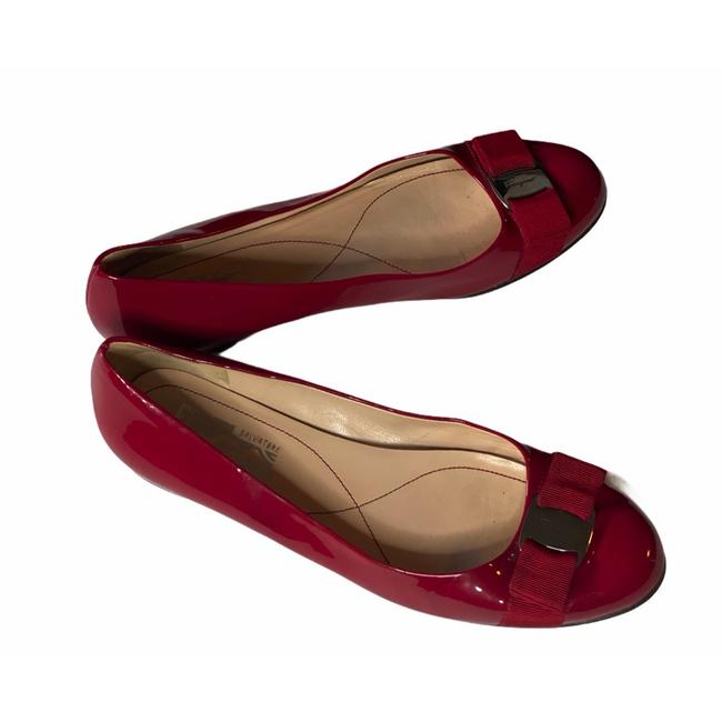 Item - Red Varina Patent Leather Ballet Flats Size US 8 Regular (M, B)