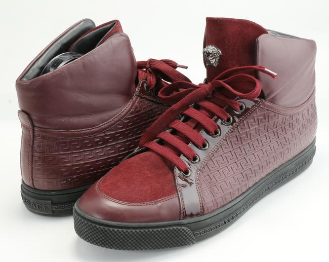 Item - Purple Grecca Embroidered High-top Sneakers Shoes
