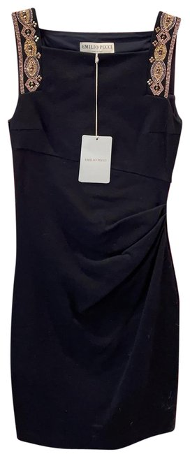 Item - Boack/Rose Gold Saks Mid-length Night Out Dress Size 6 (S)