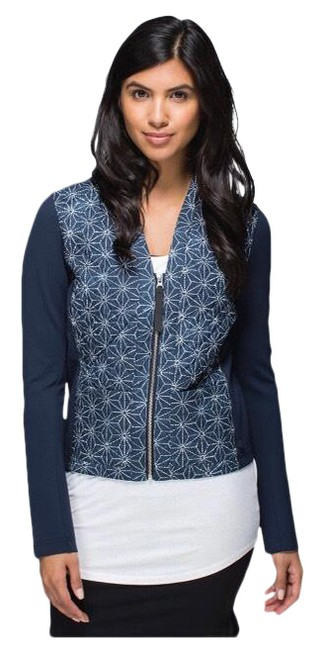Item - Blue Cardigan and Again Activewear Outerwear Size 6 (S)