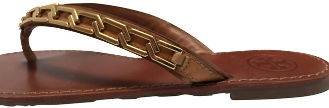 Item - Tan Tong Flat Sandals Size US 7 Regular (M, B)