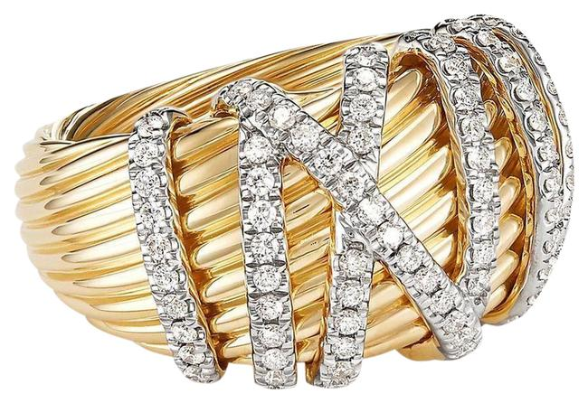 Item - Helena Dome In 18k Yellow Gold with Diamonds Ring