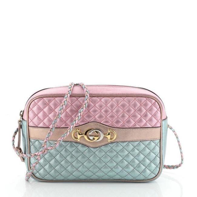 Item - Camera Trapuntata Small Quilted Metallic Multicolor Leather Cross Body Bag