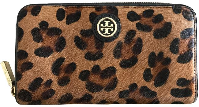Item - Black Brown Robinson Calf Hair Zip Wallet
