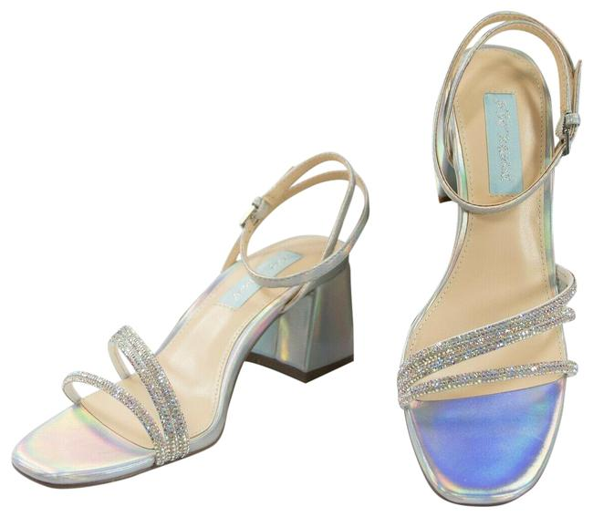 Item - Silver Anika Crystal Iridescent Faux Leather Heels Pumps Size US 6.5 Regular (M, B)