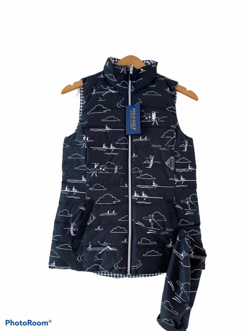 Item - Black White Quilted Puffer Reversible Vest Size 0 (XS)