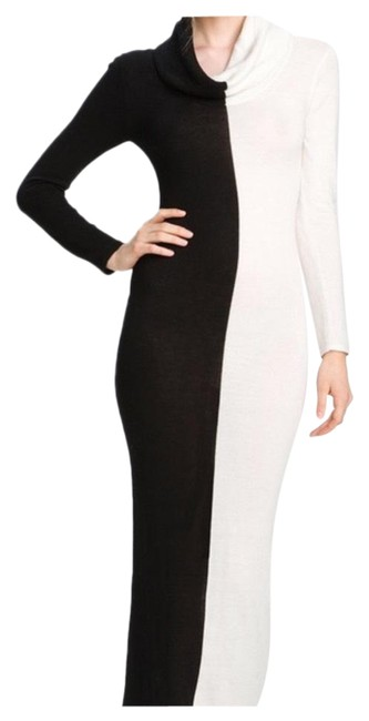 Item - Black Jori Colorblock Cowl Long Casual Maxi Dress Size 2 (XS)