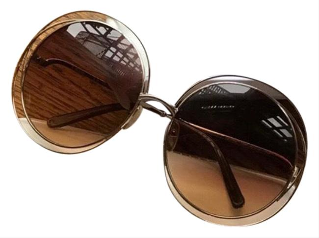 Item - Brown and Gold Carlina Sunglasses
