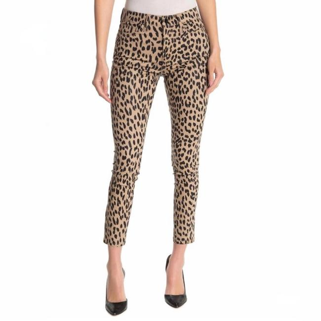 Item - Tan Charlie Animal Print High Rise New Skinny Jeans Size 27 (4, S)