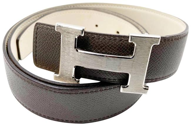 Item - Taupe Ivory Constance Bucket 32mm Silver H Black Brown Reversible 80cm Belt