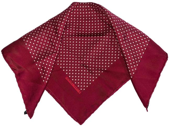 Item - Red/White Polka Dot Silk Gavroche Scarf/Wrap