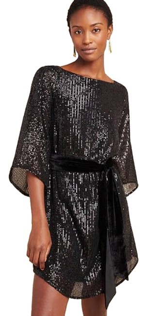 Item - Black New Starling Sequined Tunic Short Night Out Dress Size 24 (Plus 2x)