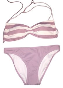 Victoria's Secret New w/o Tags Bandeau Purple Stripe Bikini