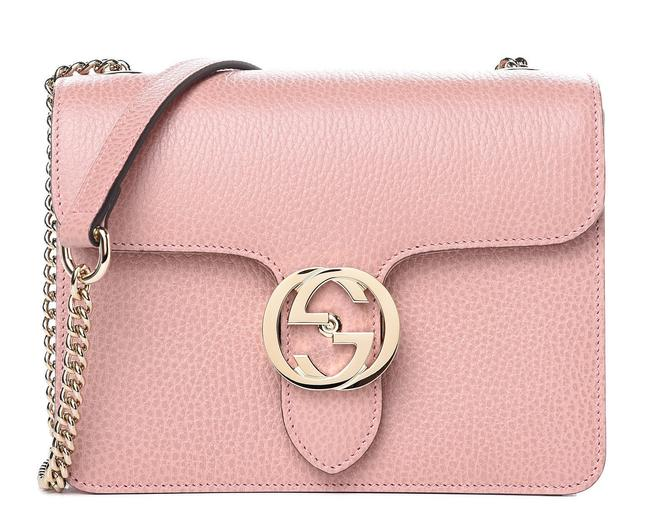 Item - Ophidia Shoulder Dollar Calfskin Small Interlocking G Soft Pink Leather Cross Body Bag