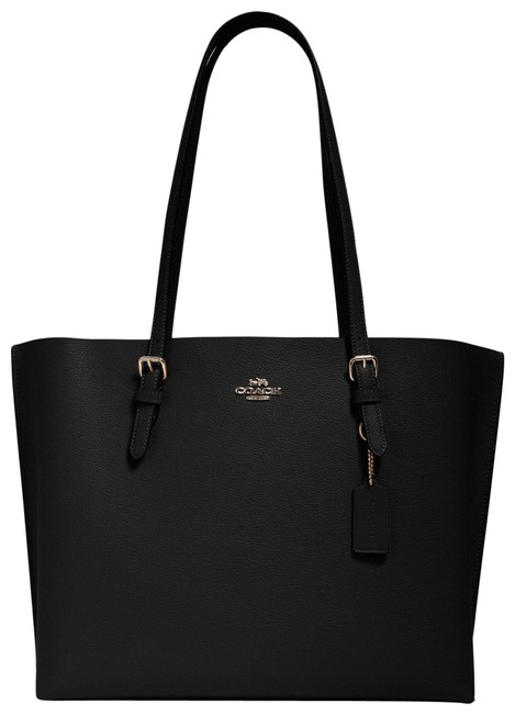 Item - 1671 Mollie Pebbled In Black True Red Leather Tote