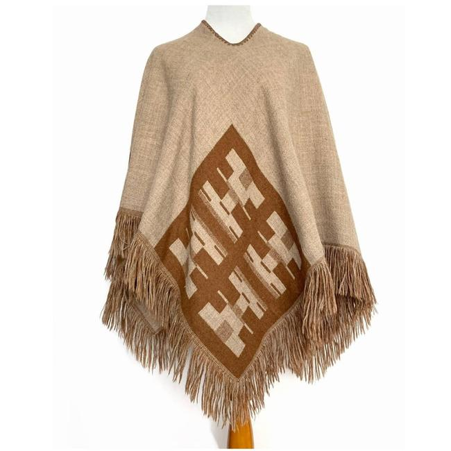 Item - Brown Reversible Native American Poncho/Cape Size OS (one size)