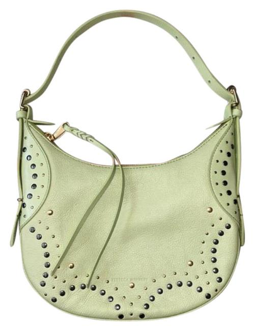 Item - Baguette Stud Sage Green Leather Shoulder Bag