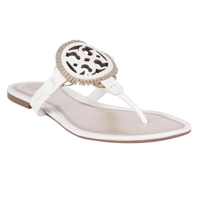 Item - White Gold Bleach Miller Fringe Sandals Size US 9.5 Regular (M, B)