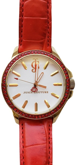 Item - Gold and Red Leather Condition Barely Used. Watch