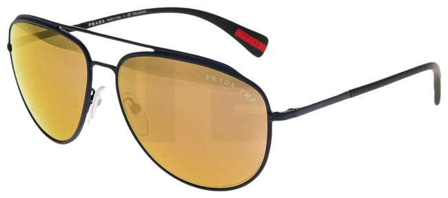 Item - Green Gold Linea Rossa Ps55rs Mirrored Polarized 55r Sunglasses