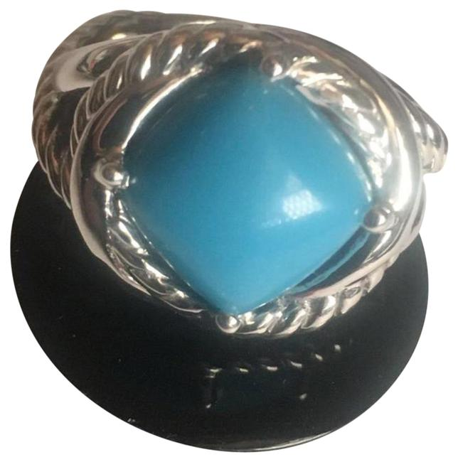 Item - Blue 11x11mm Turquoise 8 Ring