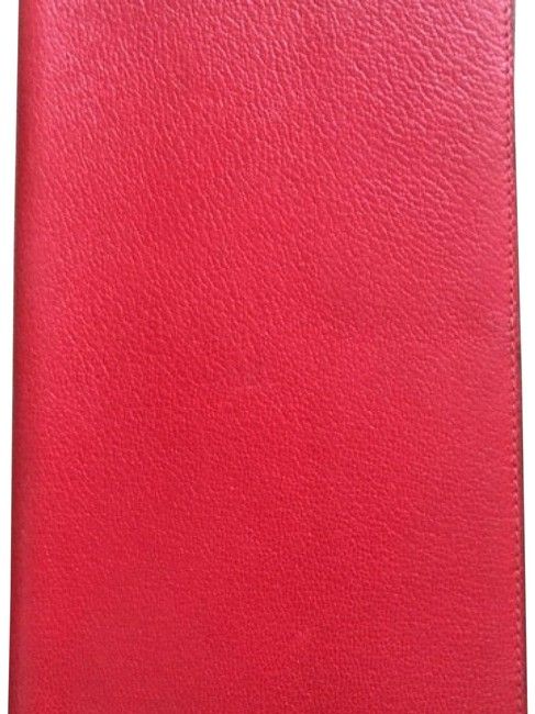 Item - Red Leather Agenda Cover Wallet