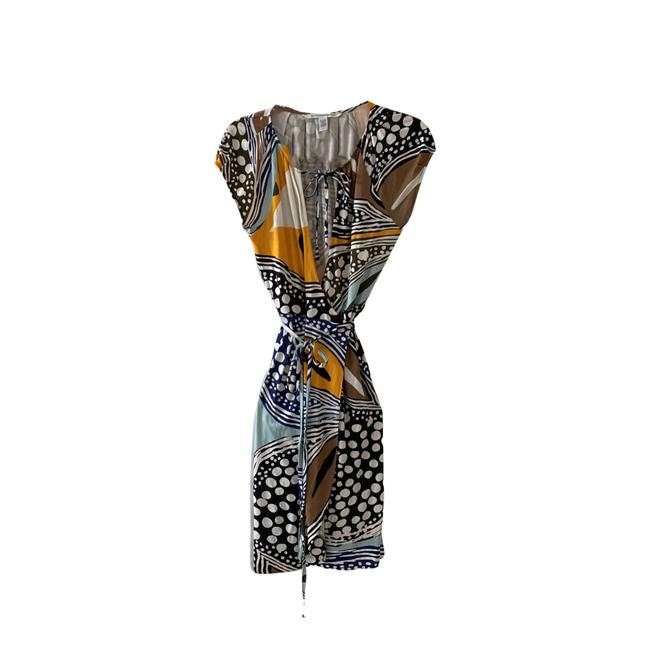Item - Multicolor Vintage Abstract Print Mid-length Cocktail Dress Size 2 (XS)