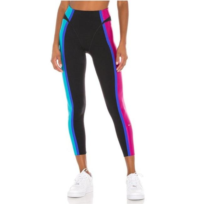 Item - Black Pink Layered Color Panel Activewear Bottoms Size 4 (S, 27)