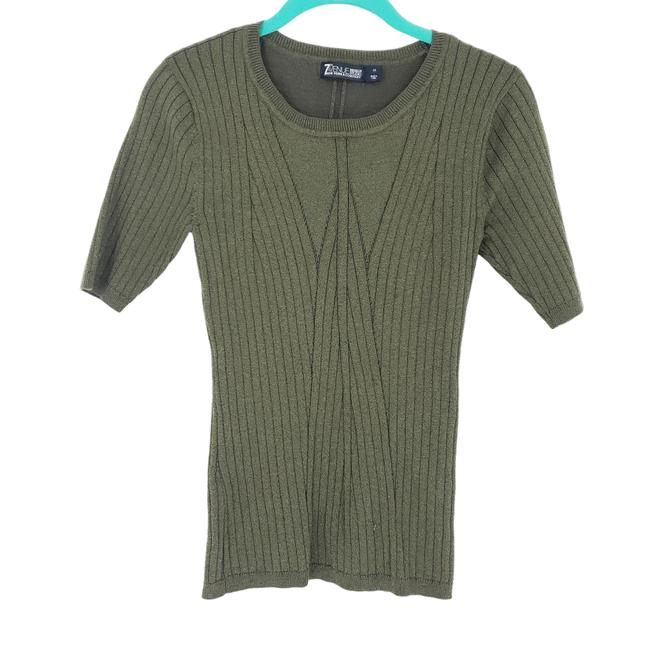 Item - Green XS 7th Avenue Design Studio Knitted Sweater Blouse Size 2 (XS)