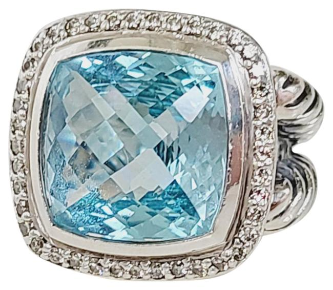 Item - David yurman albion 14mm blue topaz diamond ring Ring