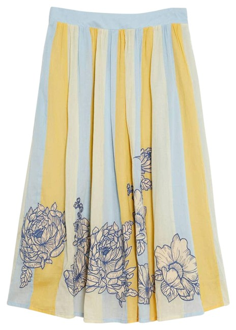 Item - Blue New Maeve Rosalind Embroidered Skirt Size 10 (M, 31)