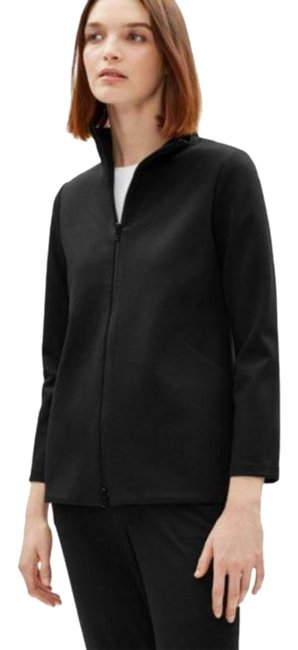 Item - Black Stand-collar Double Zipper Jacket Size 8 (M)