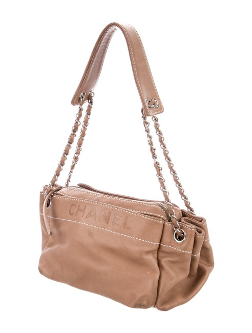 Item - Lax Accordion Brown Lambskin Leather Shoulder Bag