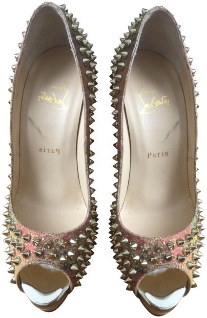 Item - Multi Colored Patent Leather Peep Spikes I Platforms Size EU 37 (Approx. US 7) Regular (M, B)