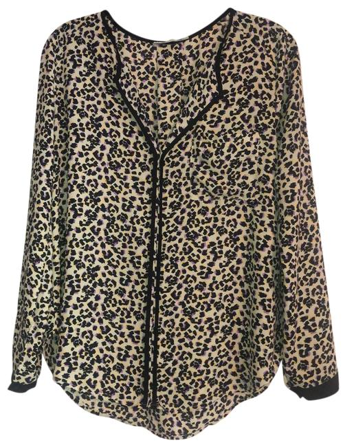 Item - Multicolor Abstract Animal Print Blouse Size 6 (S)
