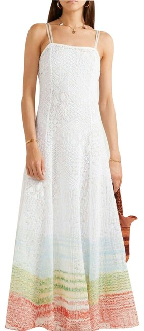 Item - White/Multi Long Night Out Dress Size 8 (M)