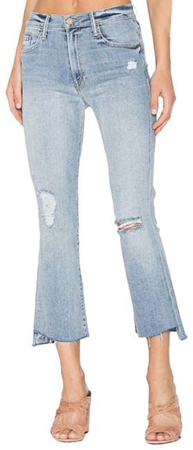 Item - Blue Light Wash Insider Crop Step Fray Relaxed Fit Jeans Size 27 (4, S)