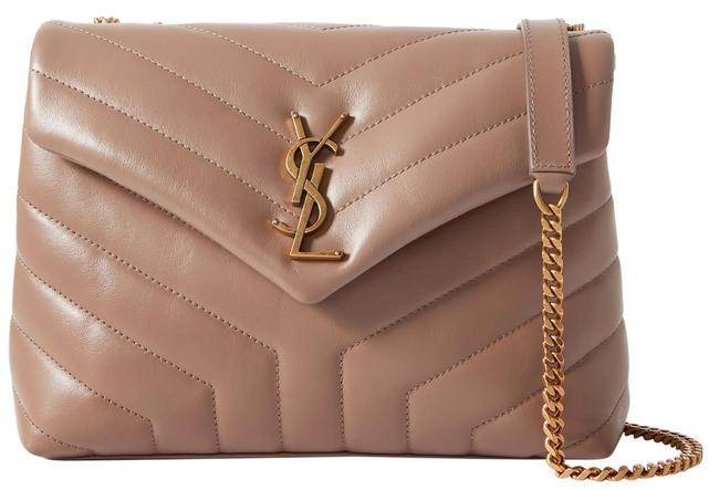 Item - Monogram Loulou Small Quilted Taupe Leather Shoulder Bag